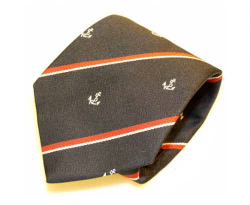 Royal Navy Tie (Stripe & Anchor)